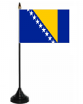Bosnia & Herzegovina Desk / Table Flag with plastic stand and base.